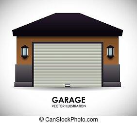 tervezés, garázs
