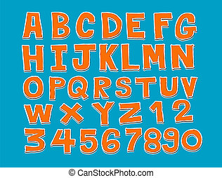 tervezés, közül, egyenes, betűtípus, skicc, kéz, dra