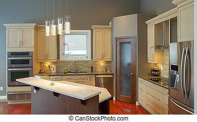 tervezés, konyha, belső
