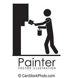 tervezés, szobafestő