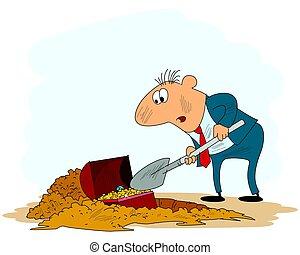tesouro, cavando