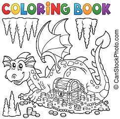tesouro, tinja livro, dragão