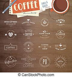 tesserati magnetici, serie caffè, etichette