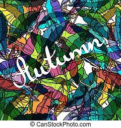 tessile, colorito, modello, seamless, autunno, ombrelli
