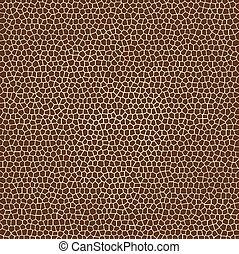 tessiture, giraffa, vettore, pelle animale