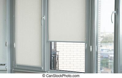 tessuto legno, plastica, dettagli, finestra, vivente, bianco...