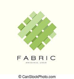 tessuto, manifesto, identità, ditta, originale, mestiere, illustrazione, creativo, fondo., vettore, aviatore, bandiera, bianco, negozio, pubblicità, logotipo, segno