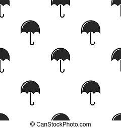 tessuto, modello, grafica, involucro, seamless, manifesto, fondo, bianco, carta, nero, minimalistic, stampa, ripetere, o, ombrelli