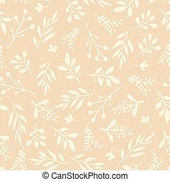 tessuto, semplice, astratto, riempe, style.paper, cartelle, web, foglia, bandiera, vendemmia, pattern., seamless, struttura, retro, fondo, matrimonio, infinito, afflitto, foglie, pastell, vettore, configurazione fogliame, beige.