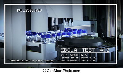 test a vaccine against Ebola infection, in a laboratory tube...