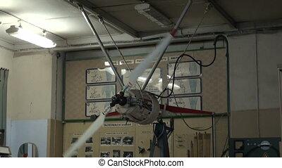 Test airplane propeller