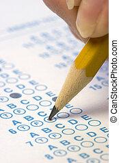 test, antwoorden