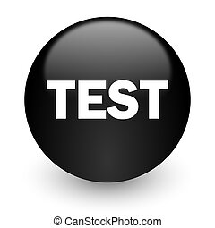 test black glossy internet icon