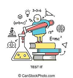 test, concept, informatietechnologie