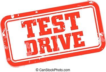 Test drive rubber stamp vector illustration