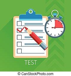 Test Flat Icon Set