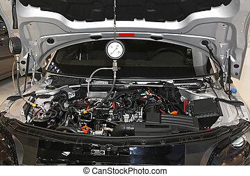 Petrol engine automotive compression test gauge service