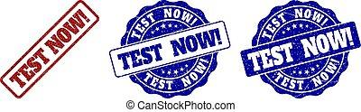 test, gekraste, postzegel, now!, zegels
