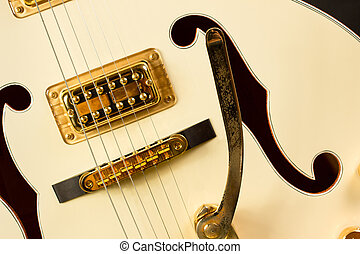 test, gitár, beesett
