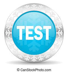 test icon, christmas button