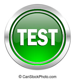 test icon, green button