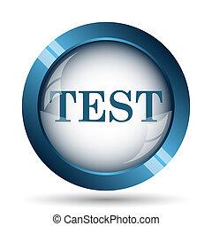 Test icon. Internet button on white background.