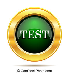 Test icon. Internet button on white background.