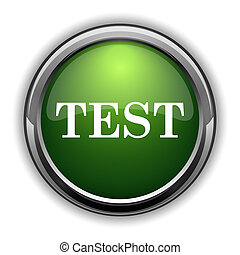 Test icon. Test website button on white background