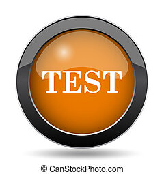 Test icon. Test website button on white background.