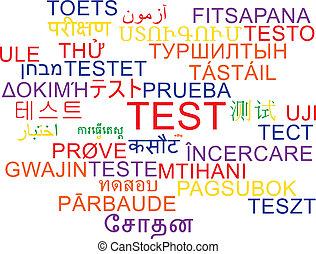 Test multilanguage wordcloud background concept