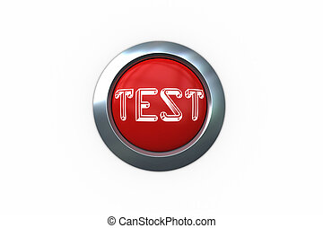 Test on digitally generated red push button against white...