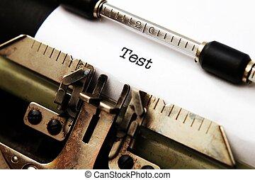 Test on typewriter