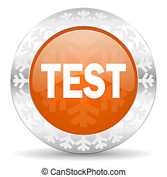 test orange icon, christmas button