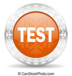 test orange icon, christmas button
