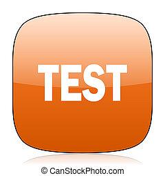 test orange square web design glossy icon