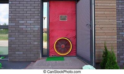 test., passif, air, maison, ventilateur, étanchéité, ...