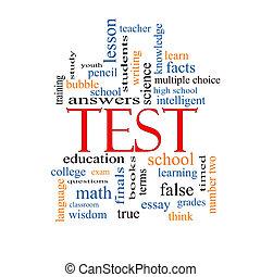 test, pojem, vzkaz, mračno