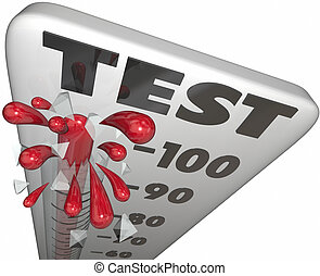 Test Quiz Evaluation Assessment Thermometer Grade Score