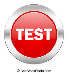 test red circle chrome web icon isolated