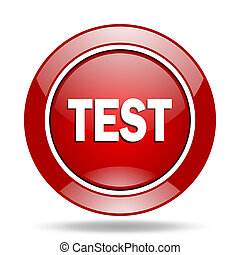 test red web glossy round icon