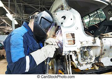 test, repairman, hegesztés, fém, autó