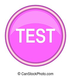 test round glossy pink web icon