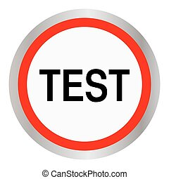 test round glossy red web icon