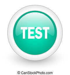 test round glossy web icon on white background