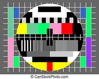 test, scherm, televisie