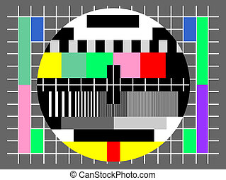 Test screen of television
