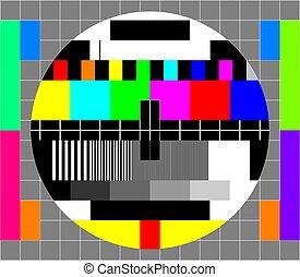 test, televisie, kaart