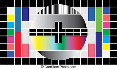 Test television screen, 16-9