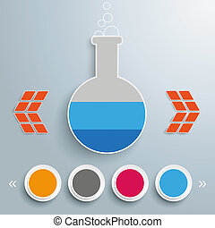 Test Tube 4 Circles Template Design