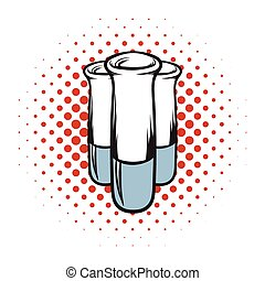 Test tube comics icon